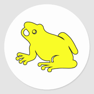 Frog Silhouette Froggy Jump Amphibians Hop Classic Round Sticker
