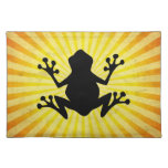 Frog Silhouette; yellow Placemat