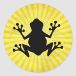 Frog Silhouette; yellow Stickers