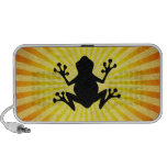 Frog Silhouette; yellow Travel Speakers