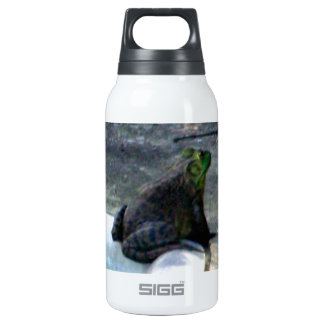 Frog Sitting By A Pool Insulated Water Bottle