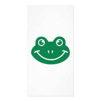 Frog smiley photo card