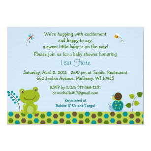 Frog baby shower invitations zazzle frog snail bug baby shower invitations filmwisefo