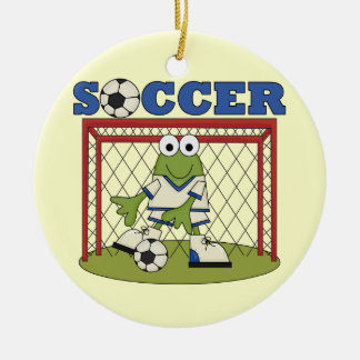 Frog Soccer Goalie T-shirts and Gifts Christmas Tree Ornament