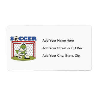 Frog Soccer Goalie T-shirts and Gifts Shipping Label
