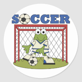 Frog Soccer Goalie Tshirts and Gifts Classic Round Sticker