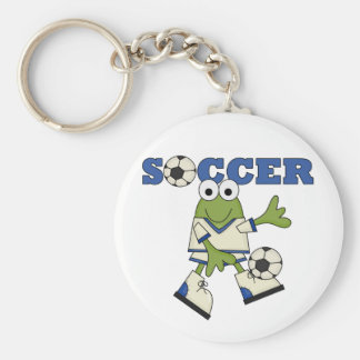 Frog Soccer Tshirts and Gifts Keychain