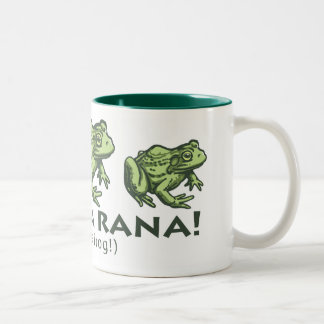 frog_Spanish_2 Two-Tone Coffee Mug