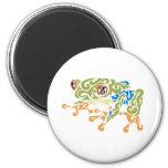 Frog Squirels 2 Inch Round Magnet