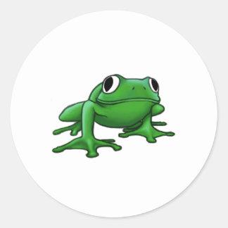 Frog Round Stickers