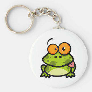 Frog Sticking Out His Tongue Keychain