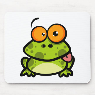 Frog Sticking Out His Tongue Mouse Pad