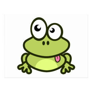 Frog Sticking Out Its Tongue Postcard