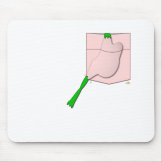Frog Stuck In A Pink Pocket Mouse Pad