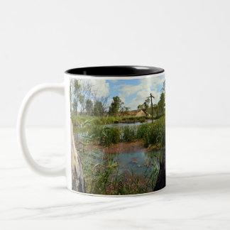 Frog_Swap_Paradise,_Two_Toned_Mug Two-Tone Coffee Mug