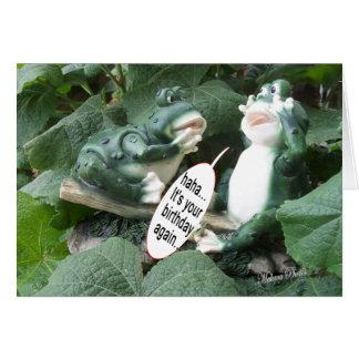 Frog Talk 5840 frog- haha your bday Card