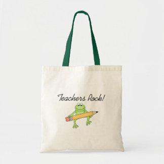 Frog Teachers Rock Tote Bags