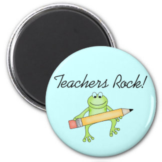 Frog Teachers Rock Tshirts and Gfits 2 Inch Round Magnet