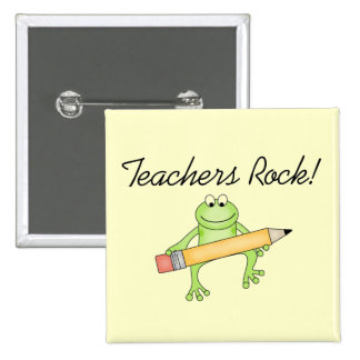 Frog Teachers Rock Tshirts and Gfits Button