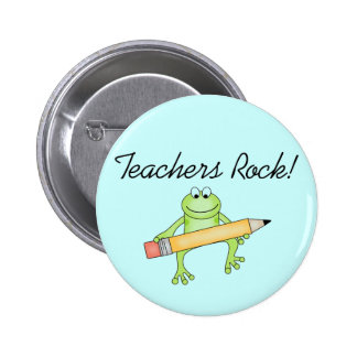 Frog Teachers Rock Tshirts and Gfits Pinback Button