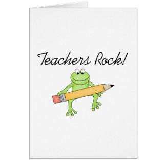 Frog Teachers Rock Tshirts and Gfits Greeting Card