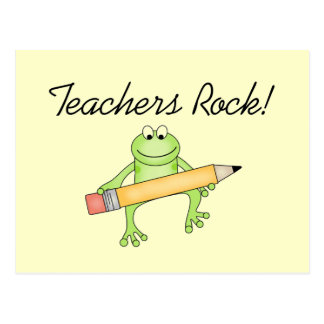 Frog Teachers Rock Tshirts and Gfits Postcard
