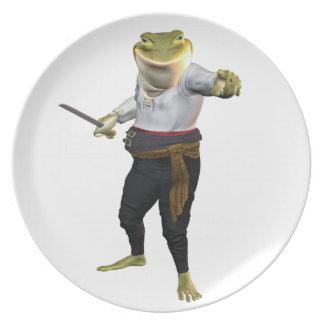 Frog the Hero Swordsman Dinner Plate