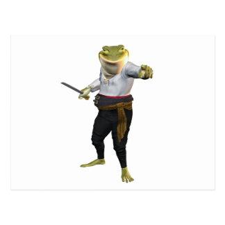 Frog the Hero Swordsman Postcard