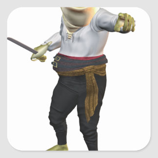 Frog the Hero Swordsman Square Sticker