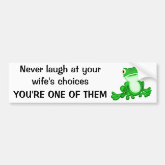 frog to prince bumper sticker
