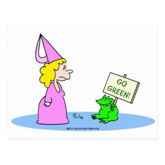 """Frog to Princess """"Go Green!"""" Postcard"""
