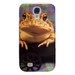 Frog Toad in black wagon with plaid background Samsung Galaxy S4 Covers