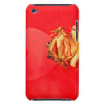 Frog Toad in front of red heart photo iPod Touch Case-Mate Case
