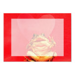 """Frog Toad in front of red heart photo 5"""" X 7"""" Invitation Card"""