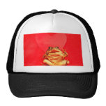 Frog Toad in front of red heart photo Mesh Hats