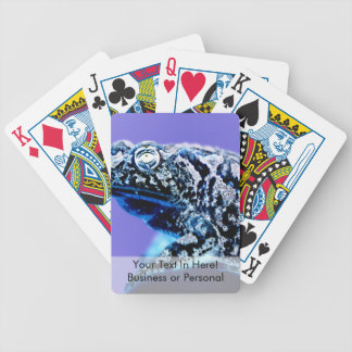 Frog toad  photo inverted blue black bicycle playing cards