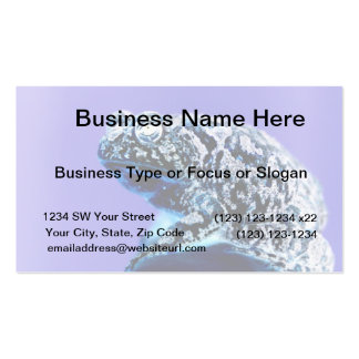Frog toad  photo inverted blue black business card templates