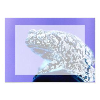 Frog toad  photo inverted blue black card