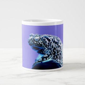 Frog toad  photo inverted blue black giant coffee mug
