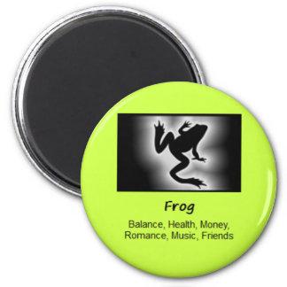 Frog Totem Animal Spirit Meaning 2 Inch Round Magnet