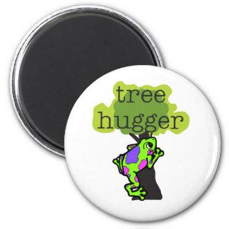 Frog Tree Hugger 2 Inch Round Magnet
