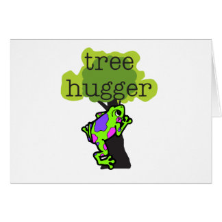 Frog Tree Hugger Greeting Card