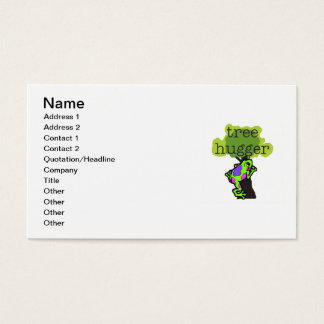 Frog Tree Hugger T-shirts and Gifts Business Card