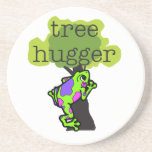 Frog Tree Hugger T-shirts and Gifts Beverage Coaster