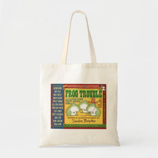 FROG TROUBLE by Sandra Boynton Official Tote Budget Tote Bag