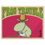 FROG TROUBLE Embroidered Stuff by Sandra Boynton Embroidered Hoodies
