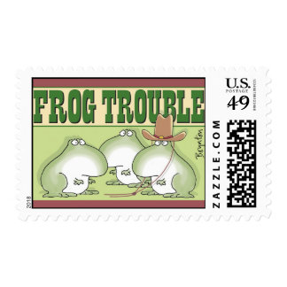 Frog Trouble postage stamp