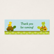 Frog Turtle Duck Goodie Bag Tags Gift Tags