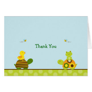 Frog Turtle Duck Thank You Note Cards