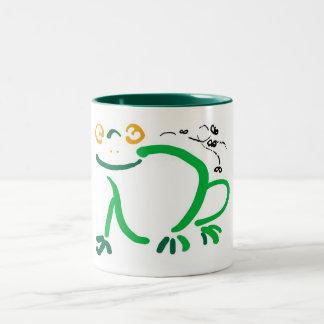 Frog Two-Tone Coffee Mug